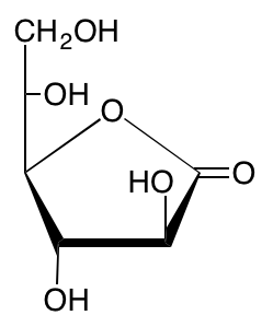 structure of L-galactono-1,4-lactone